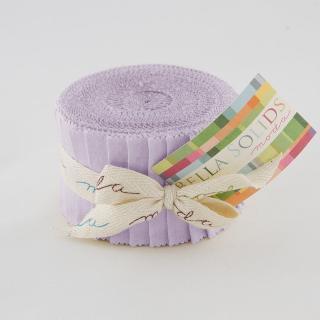 Moda Bella Solids Junior Jelly Roll - Lilac 9900 66