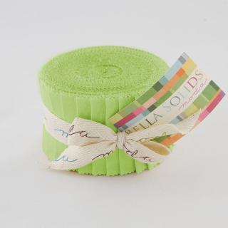 Solids Junior Jelly Roll - Lime 9900 75