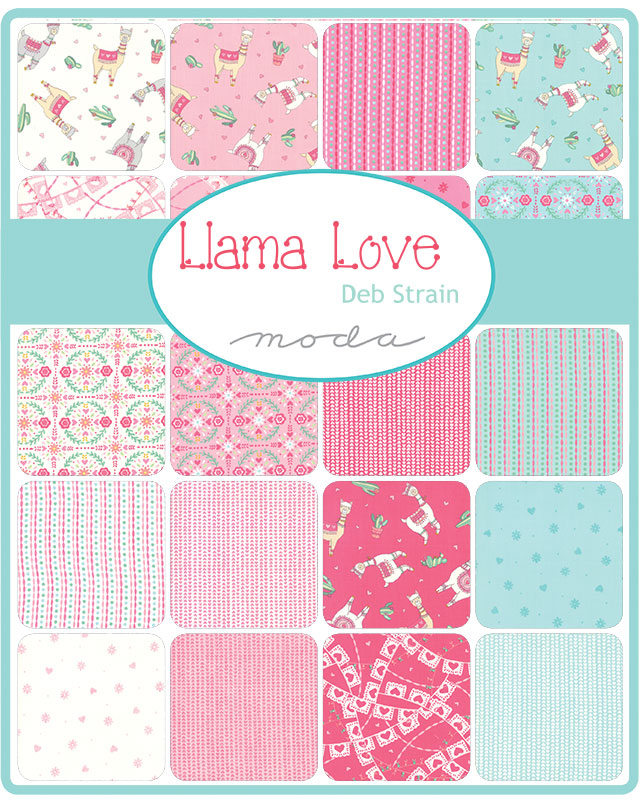 Moda Fat Quarter Bundle - Llama Love by Deb Strain