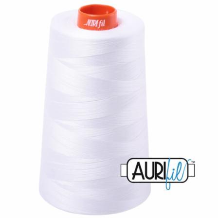 Long Arm Cotton 50wt WHITE Aurifil 2024
