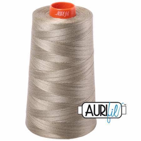 Long Arm Cotton 50wt LITE KHAKI GREEN Aurifil 2900