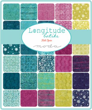 Moda Fat Eighth Bundle - Longitude Batiks by Kate Spain
