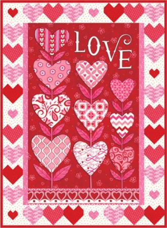 Moda Quilt Kit - Love Grows by Deb Strain