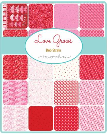 Moda Fat Quarter Bundle - Love Grows by Deb Strain