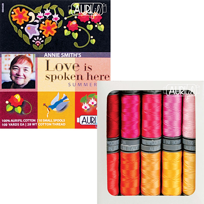 Love is Spoken Here Summerset Aurifil Small Spools