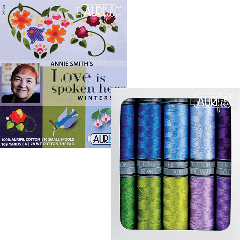 Love is Spoken Here Winterset Aurifil Small Spools