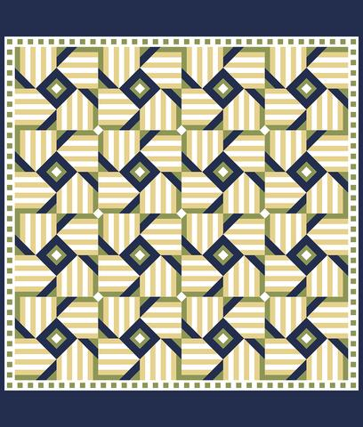 Printed Quilt Kit Panel - Magic Windmill YELLOW