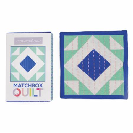 Matchbox Quilt Kit Number 5 Cobalt Blue