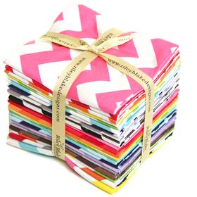 Riley Blake Fat Quarter Bundle - Medium Chevron