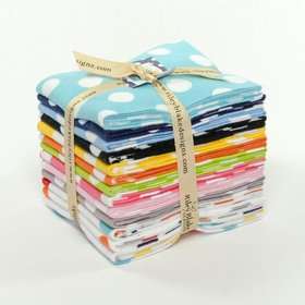 Riley Blake Fat Quarter Bundle - Medium Dots Flannels