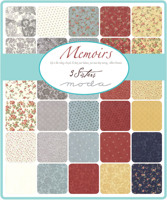 Moda Fat Quarter Bundle - Memoirs by 3 Sisters