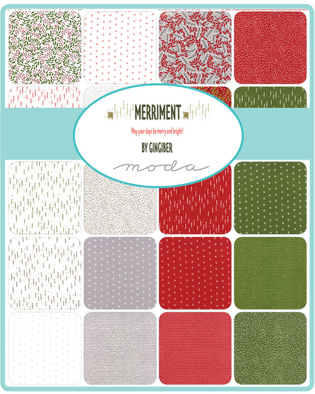 Moda Fat Eighth Bundle - Merriment by Gingiber