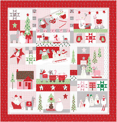 Moda Quilt Kit - Merry Merry Snow Days by Bunny Hill Designs