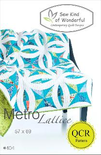 Metro Lattice Quilt Pattern by Sew Kind Of Wonderful