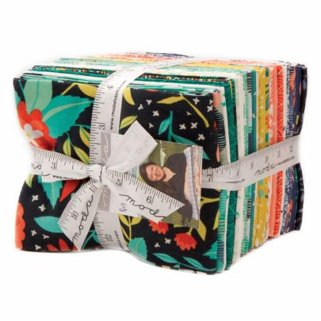 Moda Fat Quarter Bundle - Midnight Garden by One Canoe Two