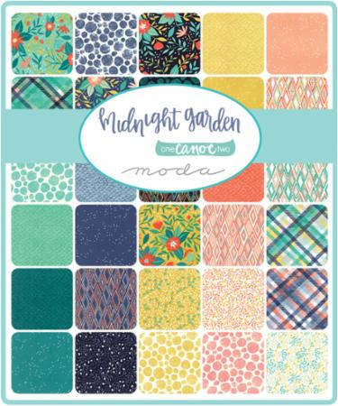 Moda Charm Pack - Midnight Garden by One Canoe Two
