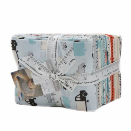 Moda Fat Quarter Bundle - Mighty Machines by Lydia Nelson