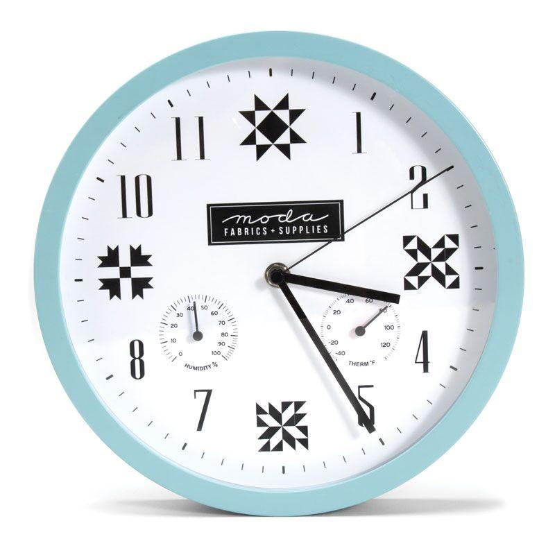 Moda Wall Clock - Blue