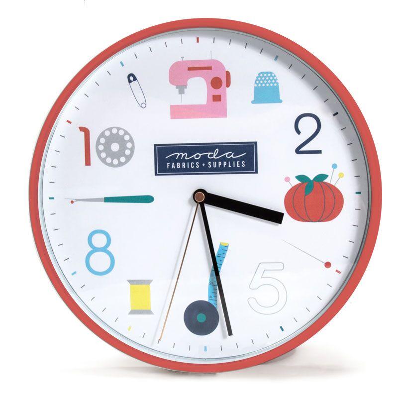 Moda Wall Clock - Red