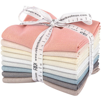 Robert Kaufman Fat Quarter Bundle - Moondust Light Colorstory