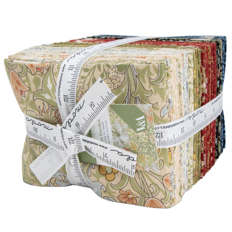 Moda Fat Quarter Bundle - Morris Garden by V & A Museum