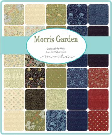 Moda Fat Eighth Bundle - Morris Garden by V & A Museum