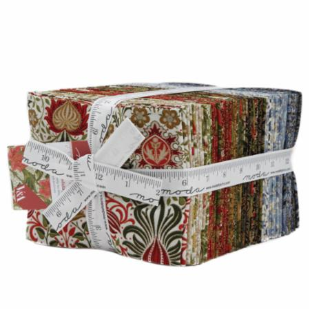 Moda Fat Quarter Bundle - Morris Holiday Metallics by V & A