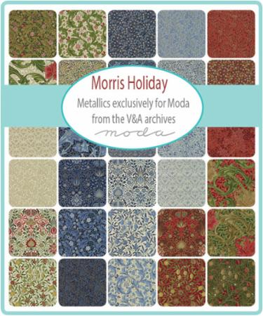 Moda Fat Eighth Bundle - Morris Holiday Metallics by V & A