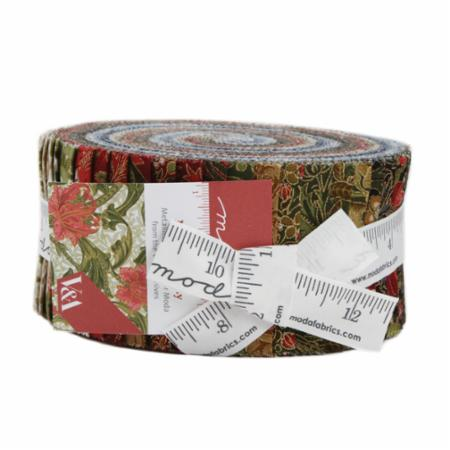 Moda Jelly Roll - Morris Holiday Metallics by V & A