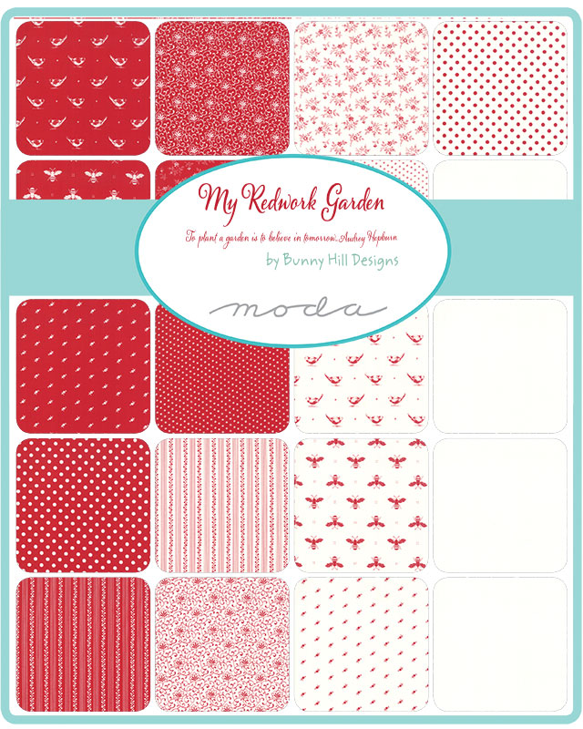 Sept/19 - My Redwork Garden Charm Pack