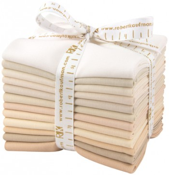 Robert Kaufman Fat Quarter Bundle - Not Quite White