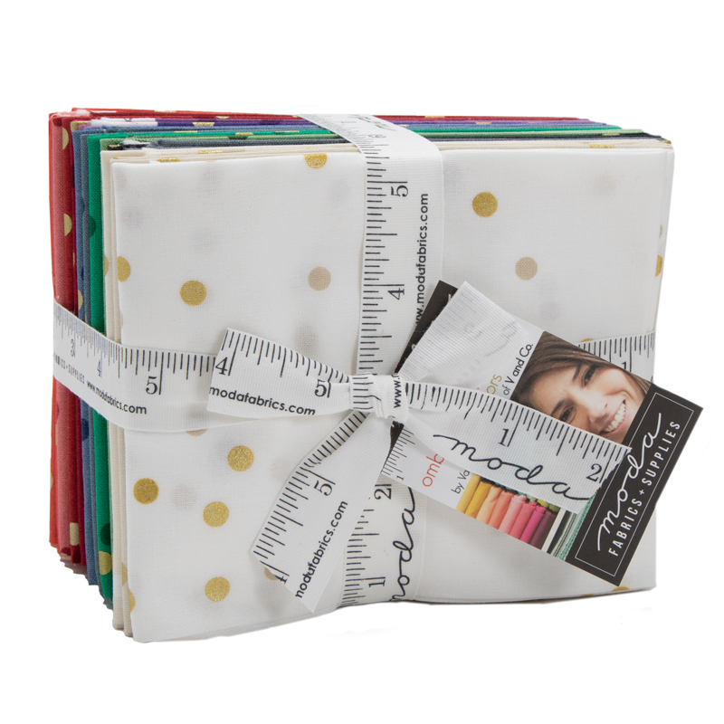 Moda Fat Quarter Bundle - Ombre Confetti Metallic by V & Co