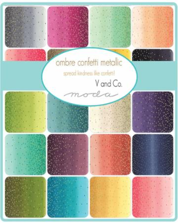 Moda Half Yard Bundle - Ombre Confetti by V & Co