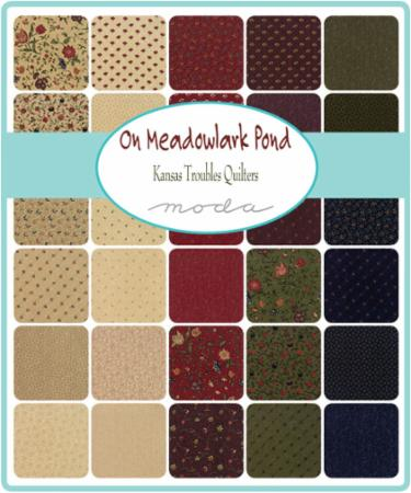 Moda Fat Eighth Bundle - On Meadowlark Pond by Kansas Troubles Quilters