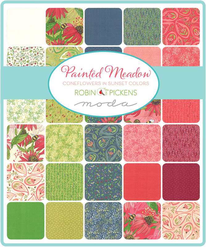 Moda Fat Quarter Bundle - Painted Meadow by Robin Pickens