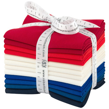 Robert Kaufman Fat Quarter Bundle - Patriotic Palette