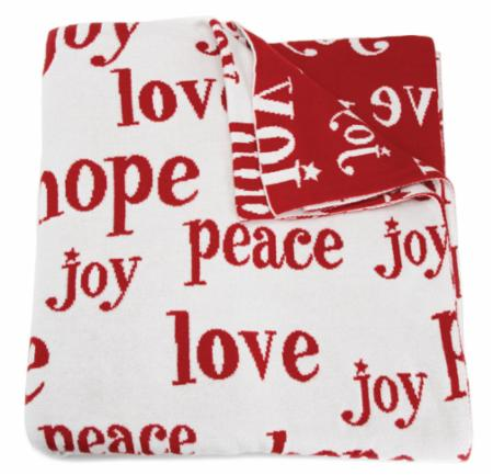 Peace Love Joy Throw