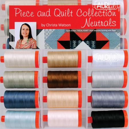 Piece And Quilt Neutrals 50wt Aurifil Large Spools