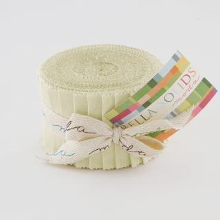 Moda Bella Solids Junior Jelly Roll - Porcelain 9900 182