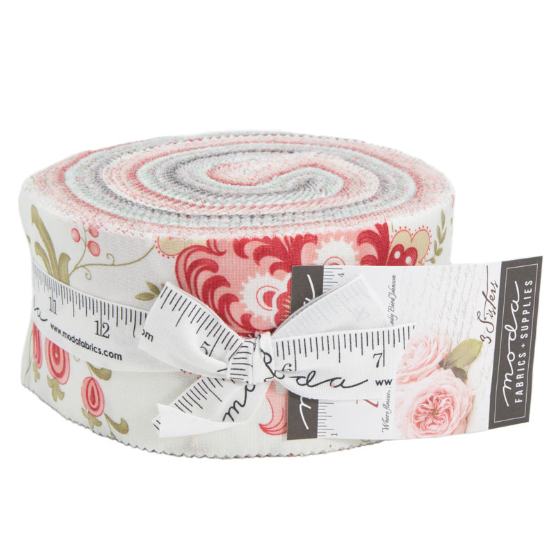 Moda Jelly Roll - Porcelain by 3 Sisters