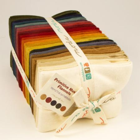 Moda Fat Quarter Bundle - Primitive Muslin Flannels