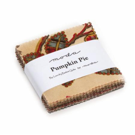 Moda Mini Charm - Pumpkin Pie by Laundry Basket Quilts