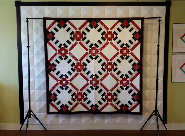 Quilt Display Stand With Case - Easy Set Up!