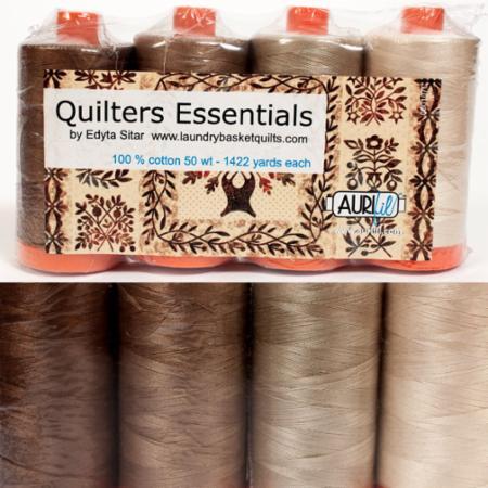Quilters Essential 50wt Aurifil 4 Large Spools