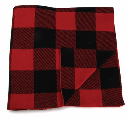 Red & Black Checker Throw