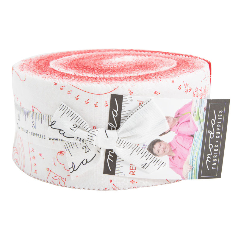 Moda Jelly Roll - REDiculously In Love by Me & My Sister