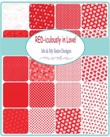 Moda Fat Quarter Bundle - REDiculously In Love by Me & My Sister