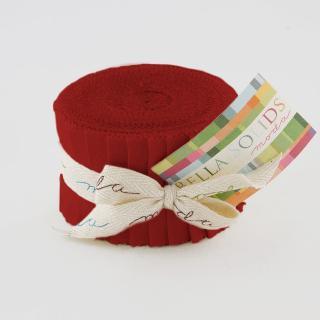 Moda Bella Solids Junior Jelly Roll - Red 9900 16