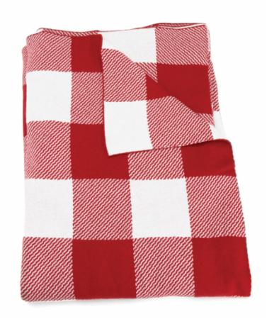 Red & White Checker Throw