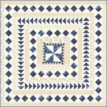 Moda Quilt Kit - Regency Blues by Christopher Wilson Tate